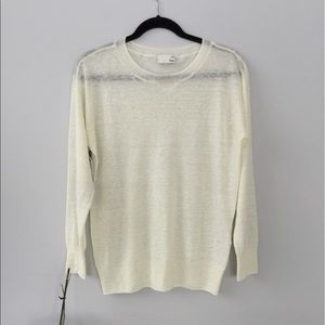 Aritzia Wilfred Free Cream Top